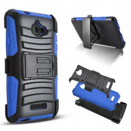 Coolpad Catalyst Case, Dual Layers [Combo Holster] Case And Built-In Kickstand Bundled with [Premium Screen Protector] Hybird Shockproof And Circlemalls Stylus Pen (Blue)