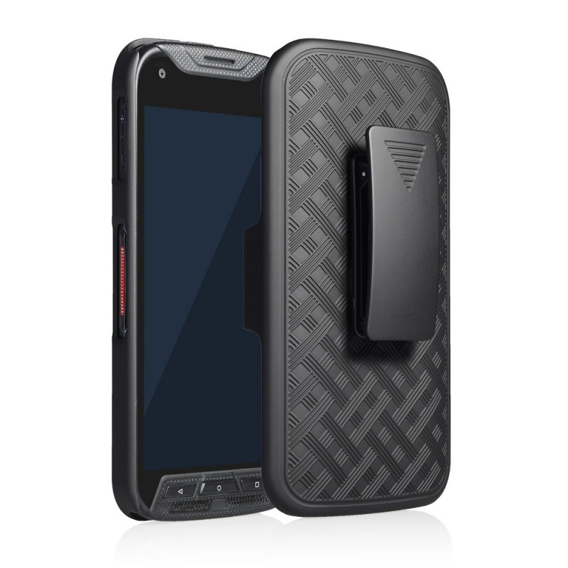 Kyocera DuraForce Pro Case, [Not Fit Kyocera DuraForce E6560] Circlemalls Dual Layers [Combo Holster] With Built-In stand With [ HD Screen Protector] For E6810, E6820, E6830 (Black)
