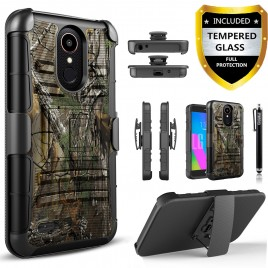 Circlemalls Combo Holster Samsung Galaxy J3 Orbit Case/Galaxy J3 Eclipse 2/J3 Prime 2/J3 Express Prime/J3 Achieve/Galaxy J3 Emerge 2018 Case Case, With [Premium Screen Protector] And Stylus Pen-Camo