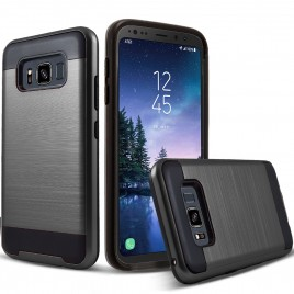 Samsung Galaxy S8 Active Case, 2-Piece Style Hybrid Shockproof Hard Case Cover with [Premium Screen Protector] Hybird Shockproof And Circlemalls Stylus Pen (Black)